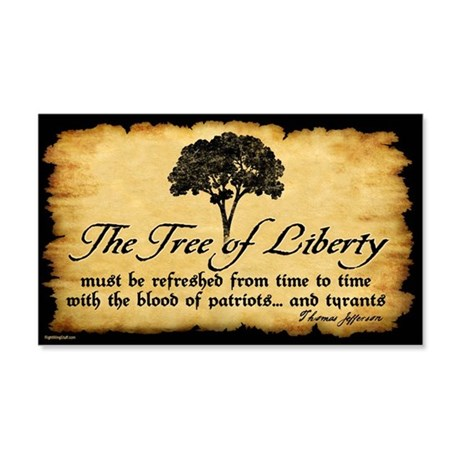 Tree of Liberty Quote - T. Jefferson Sticker (Rect
