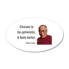 Dalai Lama 6 20x12 Oval Wall Peel
