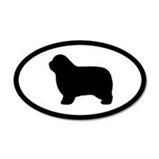 Polish Lowland Sheepdog 35x21 Oval Wall Peel