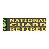 National Guard Retired&lt;BR&gt; Bumpersticker 2