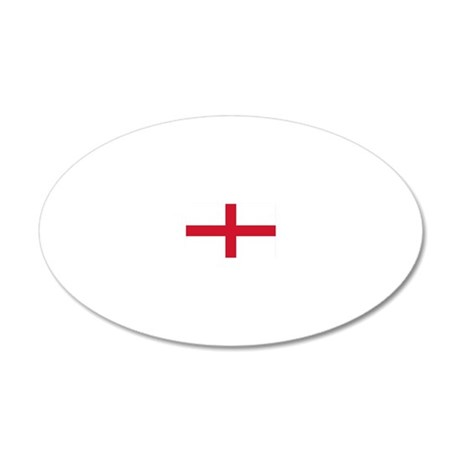 English Flag 20x12 Oval Wall Peel