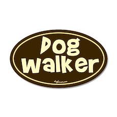 Dog Walker 20x12 Oval Wall Peel
