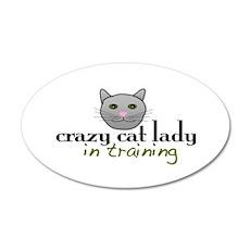 Cat Lady Training 35x21 Oval Wall Peel