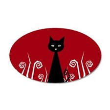 Black Cat 20x12 Oval Wall Peel