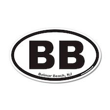 Belmar Beach BB Euro 35x21 Oval Wall Peel