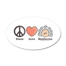 Peace Love Heart Beethoven Music Sticker