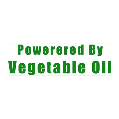 Powered by Vegetable Oil 36x11 Wall Peel
