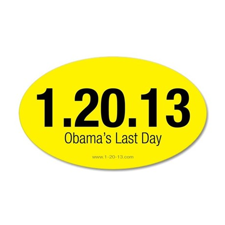 Obama's Last Day Yellow Sticker