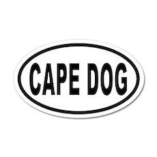 CAPE DOG Euro 35x21 Oval Wall Peel