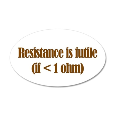 Resistance is Futile 35x21 Oval Wall Peel