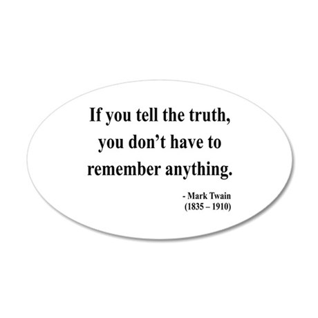 Mark Twain 30 20x12 Oval Wall Peel