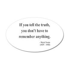 Mark Twain 30 35x21 Oval Wall Peel