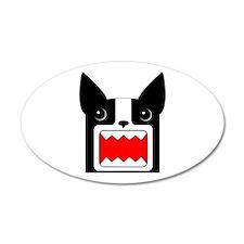 Boston Terrier Rawr Head 35x21 Oval Wall Peel