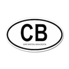 Cape Breton 20x12 Oval Wall Peel