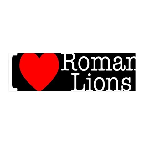 I Love Roman Lions 36x11 Wall Peel