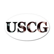 USCG (Flag) 20x12 Oval Wall Peel