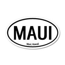 Maui, Hawaii 20x12 Oval Wall Peel