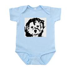 porkie - black & white Infant Bodysuit