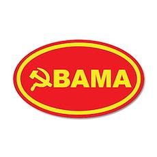 Obama Hammer & Sickle 35x21 Oval Wall Peel