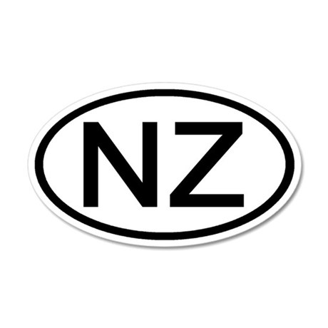New Zealand - NZ - Oval 20x12 Oval Wall Peel