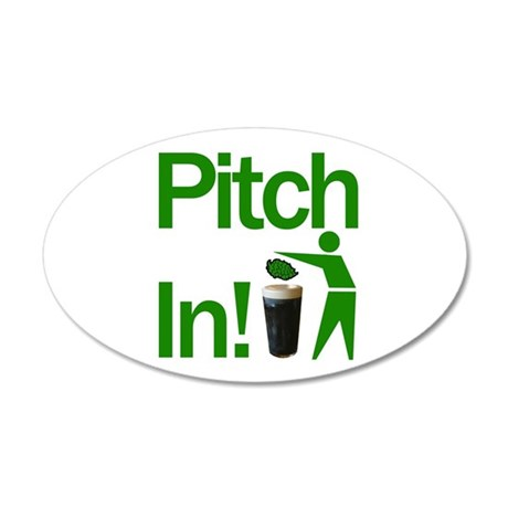 Pitch In! 20x12 Oval Wall Peel