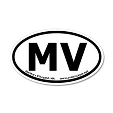 Martha's Vineyard Oval Car Sticker