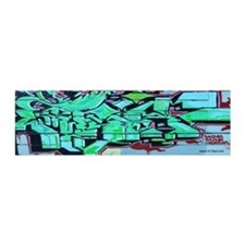 GREEN GRAFFITI WALL 20x6 Wall Peel