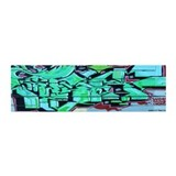 GREEN GRAFFITI WALL 36x11 Wall Peel