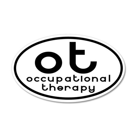 ot occupational therapy 35x21 Oval Wall Peel