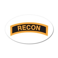 Recon Tab Black and Gold 35x21 Oval Wall Peel