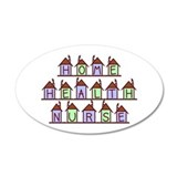 Home Health Nurse Houses 35x21 Oval Wall Peel