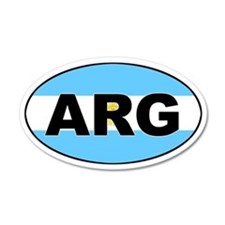 Argentinian Flag 35x21 Oval Wall Peel