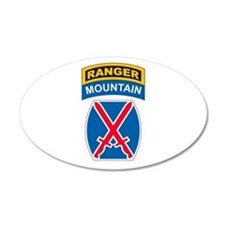 10th Mountain Div with Ranger 35x21 Oval Wall Peel