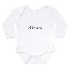 A(k)NeW Long Sleeve Infant Bodysuit
