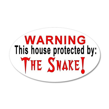 Protected By: The Snake 20x12 Oval Wall Peel