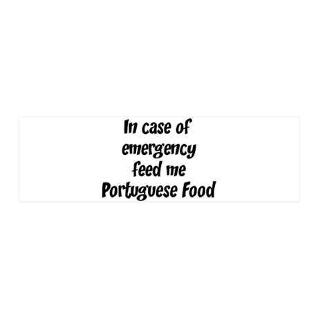 Feed me Portuguese Food 36x11 Wall Peel
