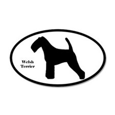 Welsh Terrier Silhouette 35x21 Oval Wall Peel