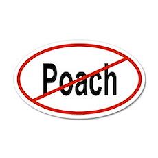 POACH 20x12 Oval Wall Peel