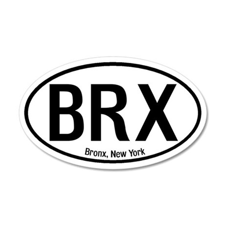 Bronx, New York 20x12 Oval Wall Peel