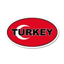 Turkey (Turkish Flag) 35x21 Oval Wall Peel