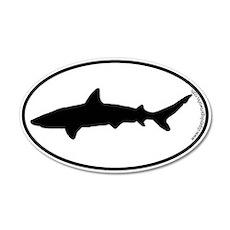 Shark SILHOUETTE 20x12 Oval Wall Peel