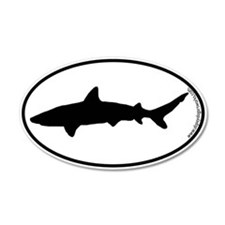 Shark SILHOUETTE 20x12 Oval Wall Peel