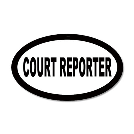 Court Reporter 20x12 Oval Wall Peel