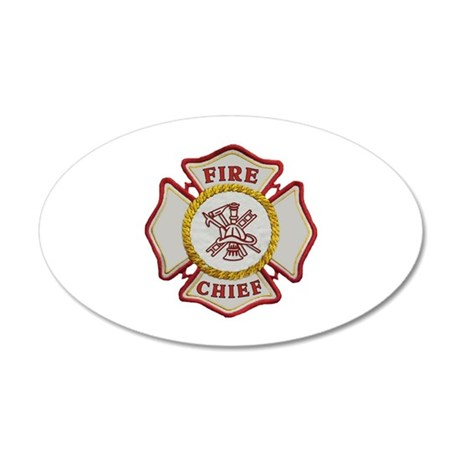 Fire Chief 35x21 Oval Wall Peel