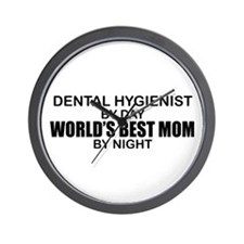 World's Best Mom - Dental Hyg Wall Clock