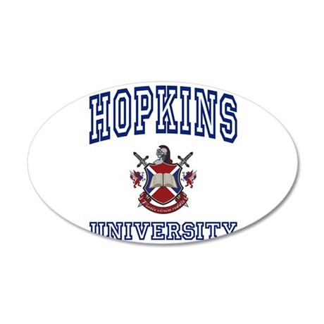 HOPKINS University 35x21 Oval Wall Peel