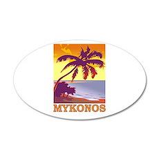 Mykonos, Greece 20x12 Oval Wall Peel