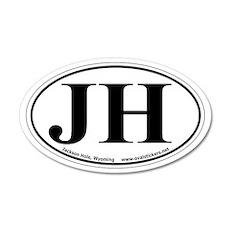 "Jackson Hole, Wyoming Oval ""JH"" Car Sticker"