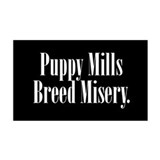Puppy Mill - Black 35x21 Wall Peel