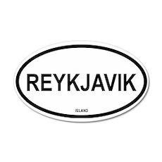 Reykjavik 35x21 Oval Wall Peel